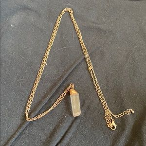Super long pendant necklace